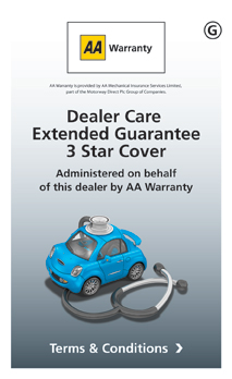 AA Warranty 3 Star - Dealer Care Extended Guarantee
